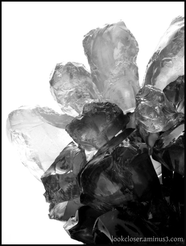 crystal hard rigid cold bw
