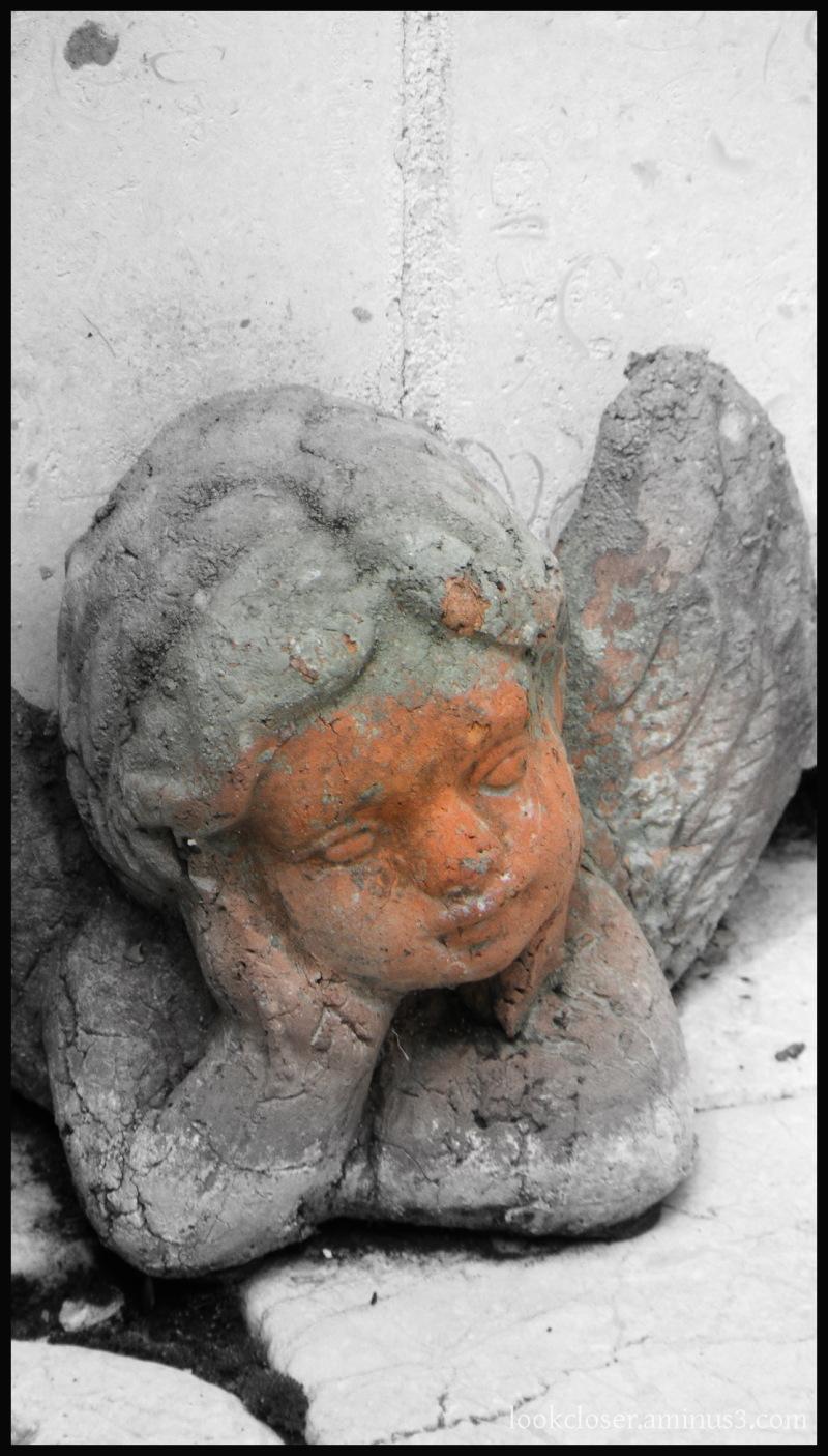 cherub angel bw selective-color