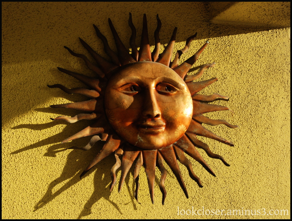 Sun shine face Florida art