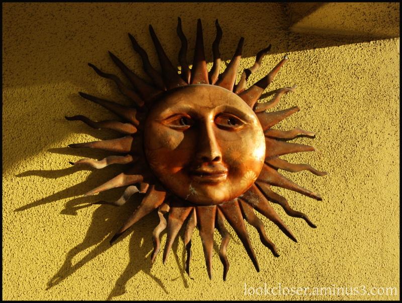 Sun shine face Florida art