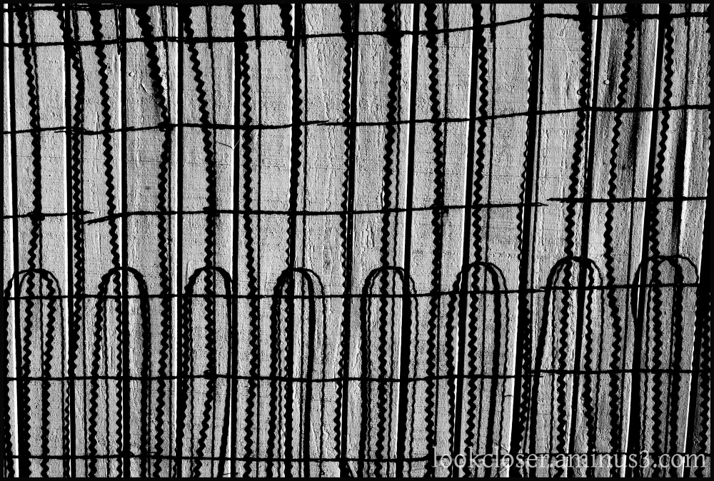wire fence wood wall texture bw
