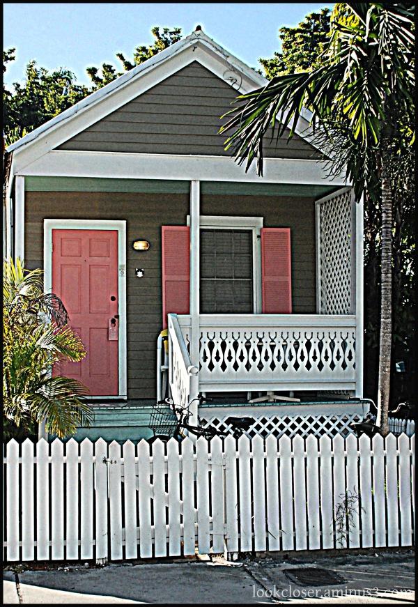 KeyWest FL pink shutters hdr