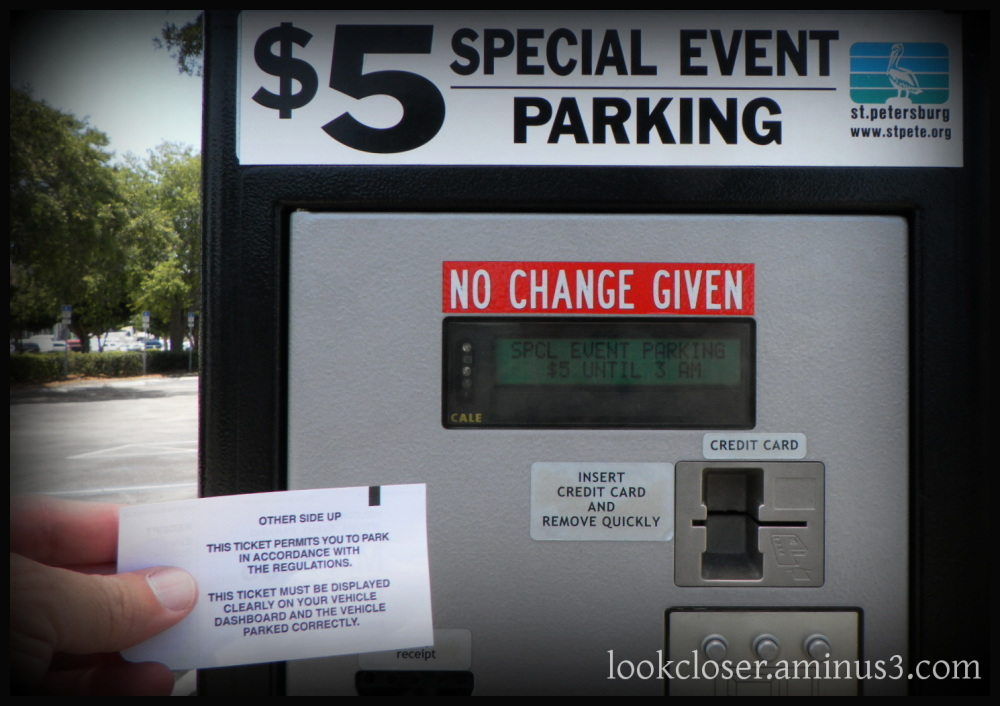 StPete pier parking ticket May 5 2012