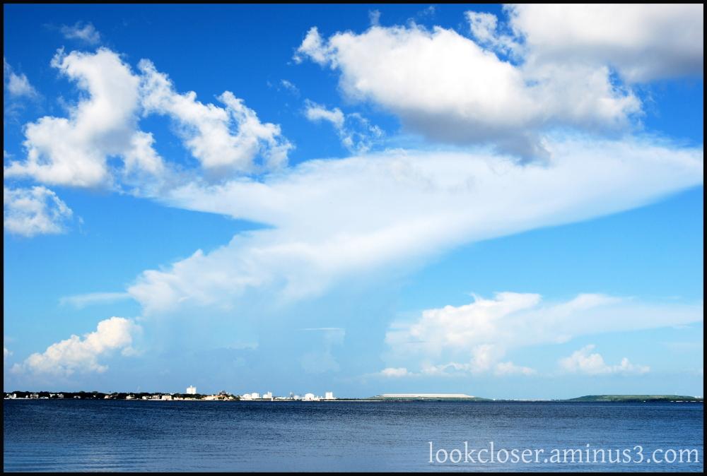 blue sky clouds tampa bay