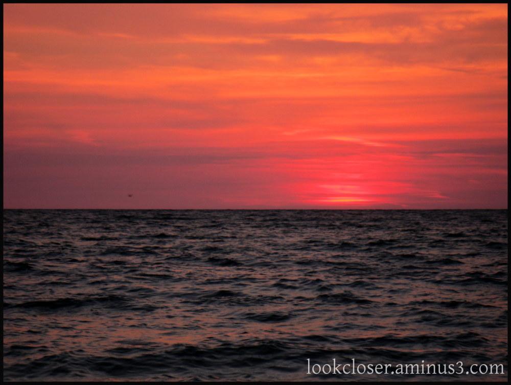 sunset red light sky Gulf FL