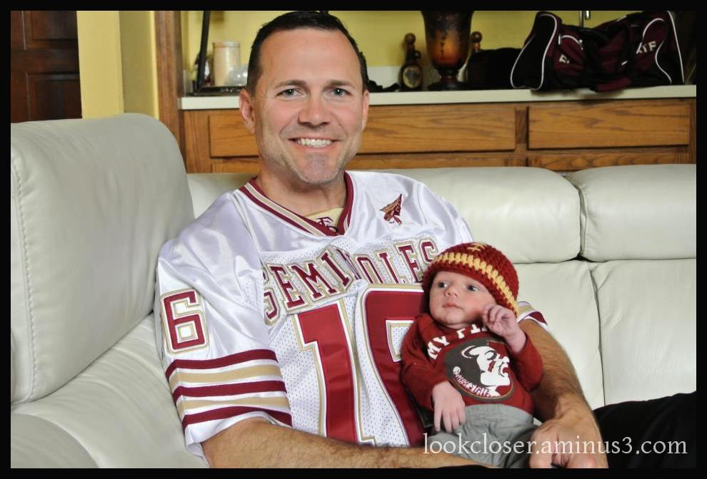 newborn baby Atticus grandson Mark FSU