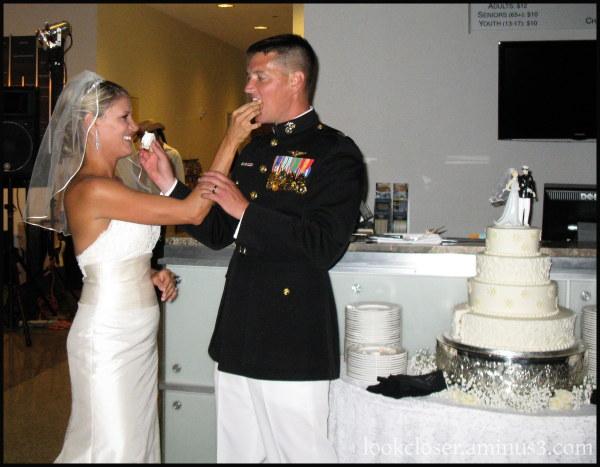 Laurie Stephen wedding cake happy