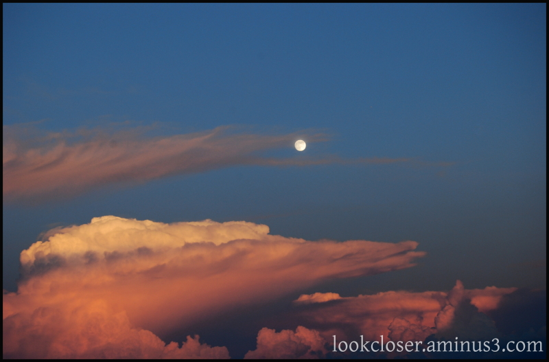 twilight clouds full moon