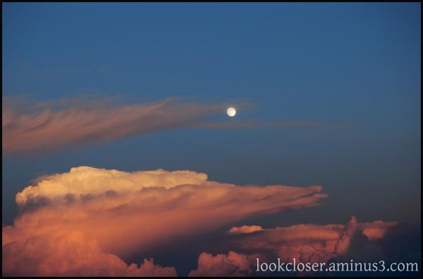 twilight clouds full moon
