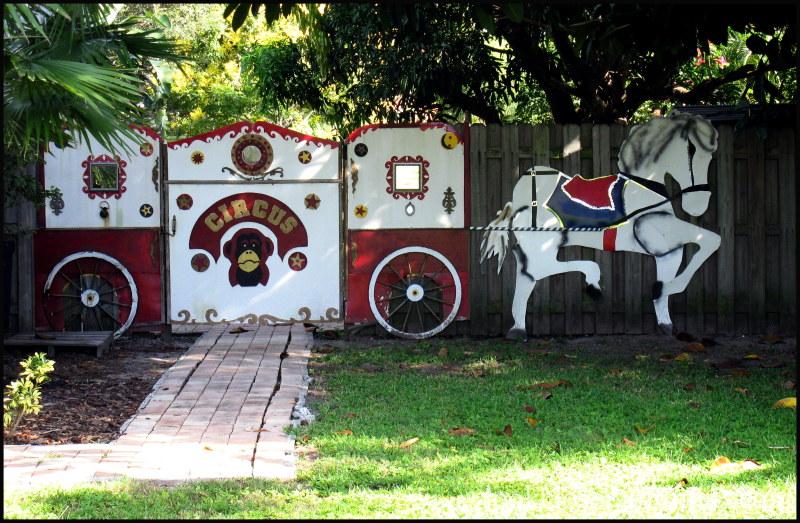 Neighborhood fence circus