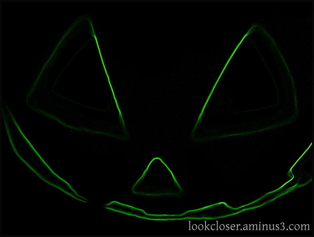 neon jackolantern halloween