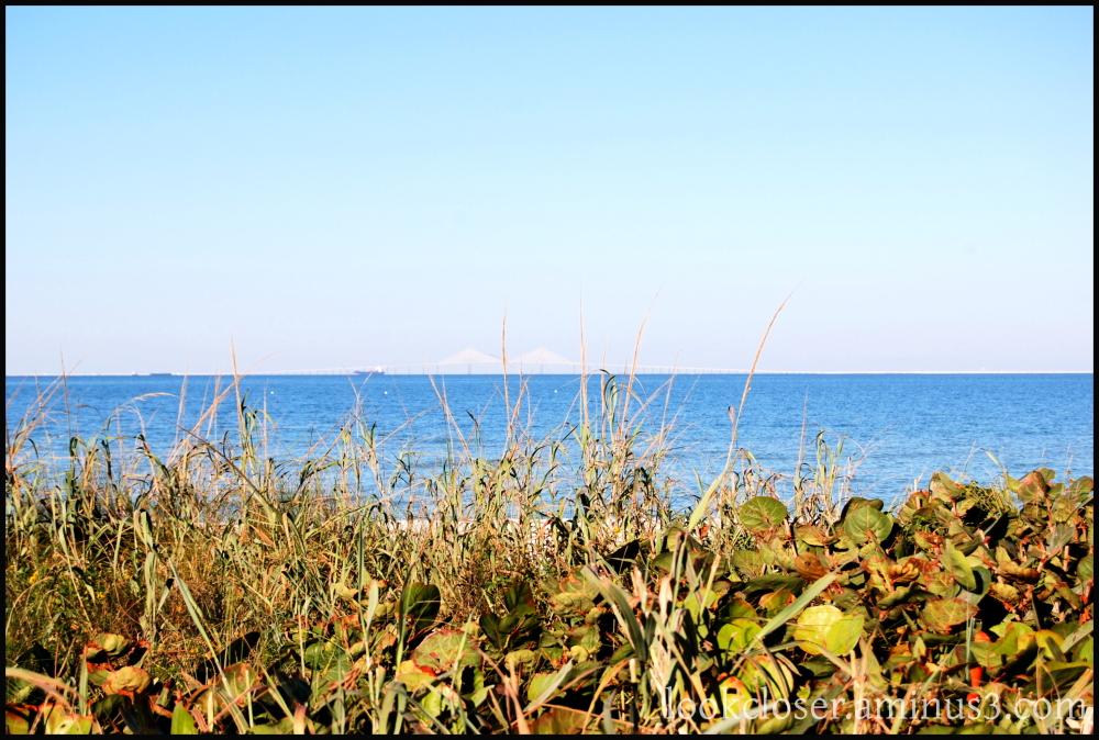horizon bay blue water sky