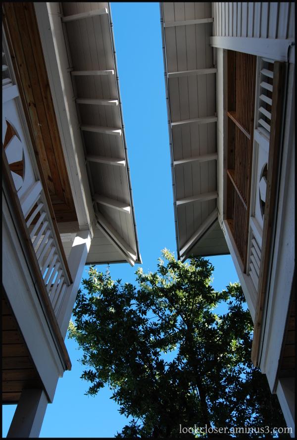 roof blue sky