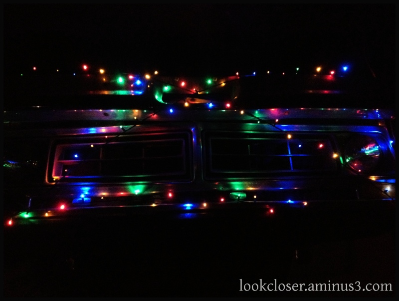 truck Christmas lights