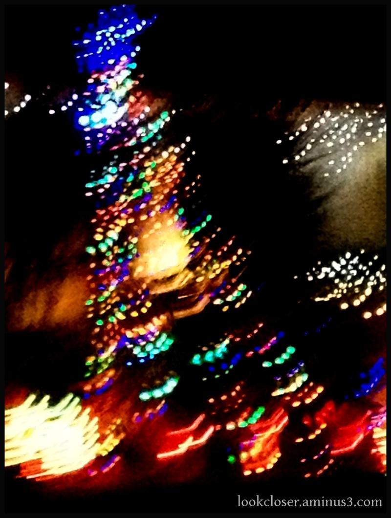 christmas lights motion blur