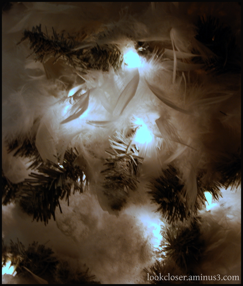 white lights fluffy christmas tree decorations