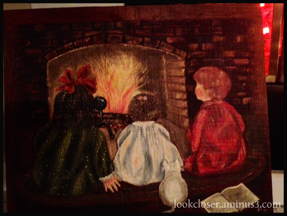 painting family Christmas children