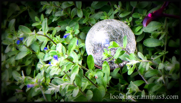 blue daze glass orb