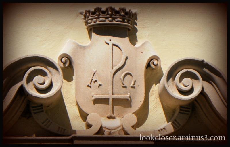 seal alpha omega crown church