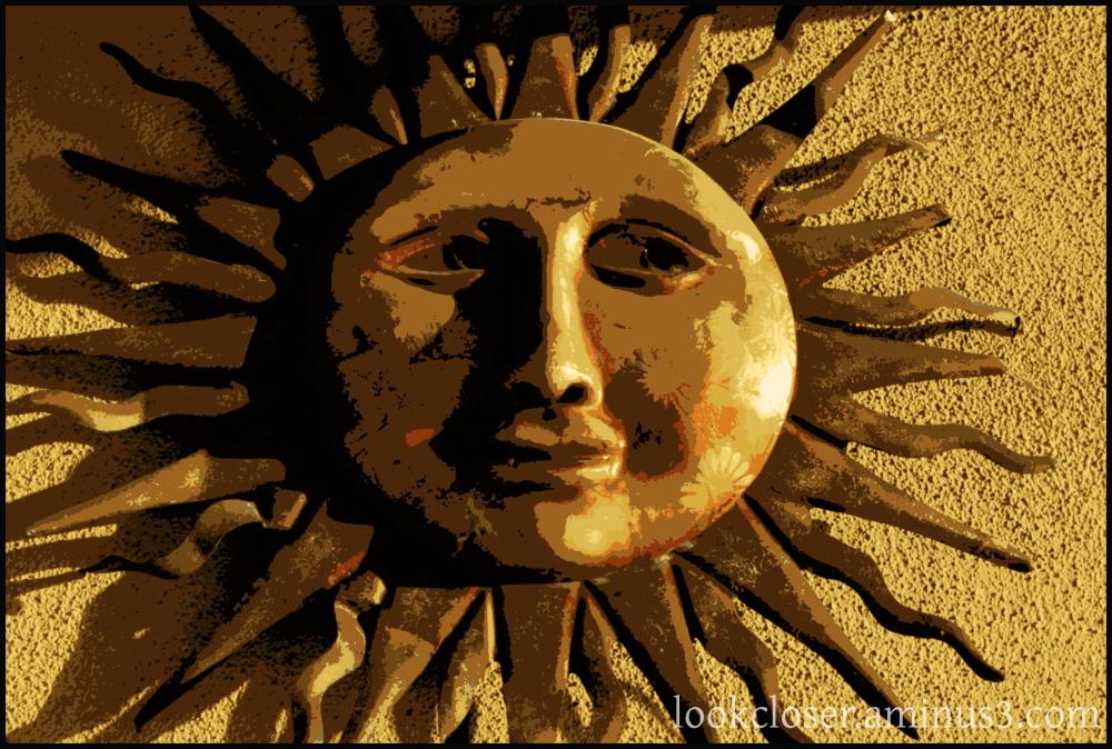 texture golden yellow sunburst posterized