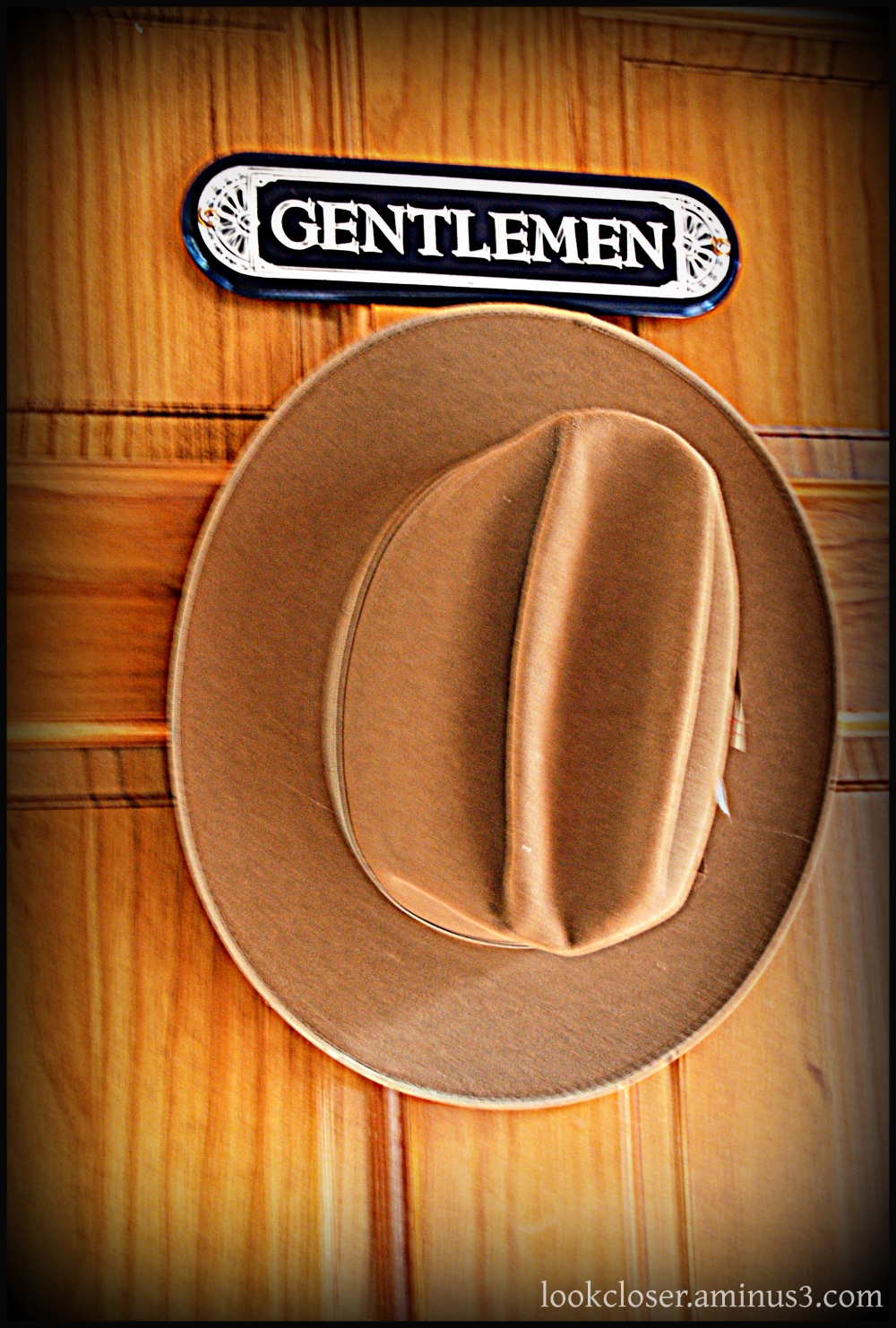hat wood door gentlemen
