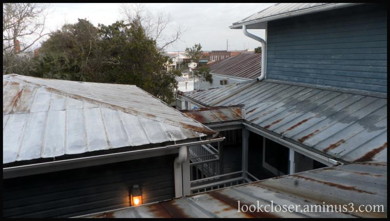 gibson inn rusted metal rooftop window view