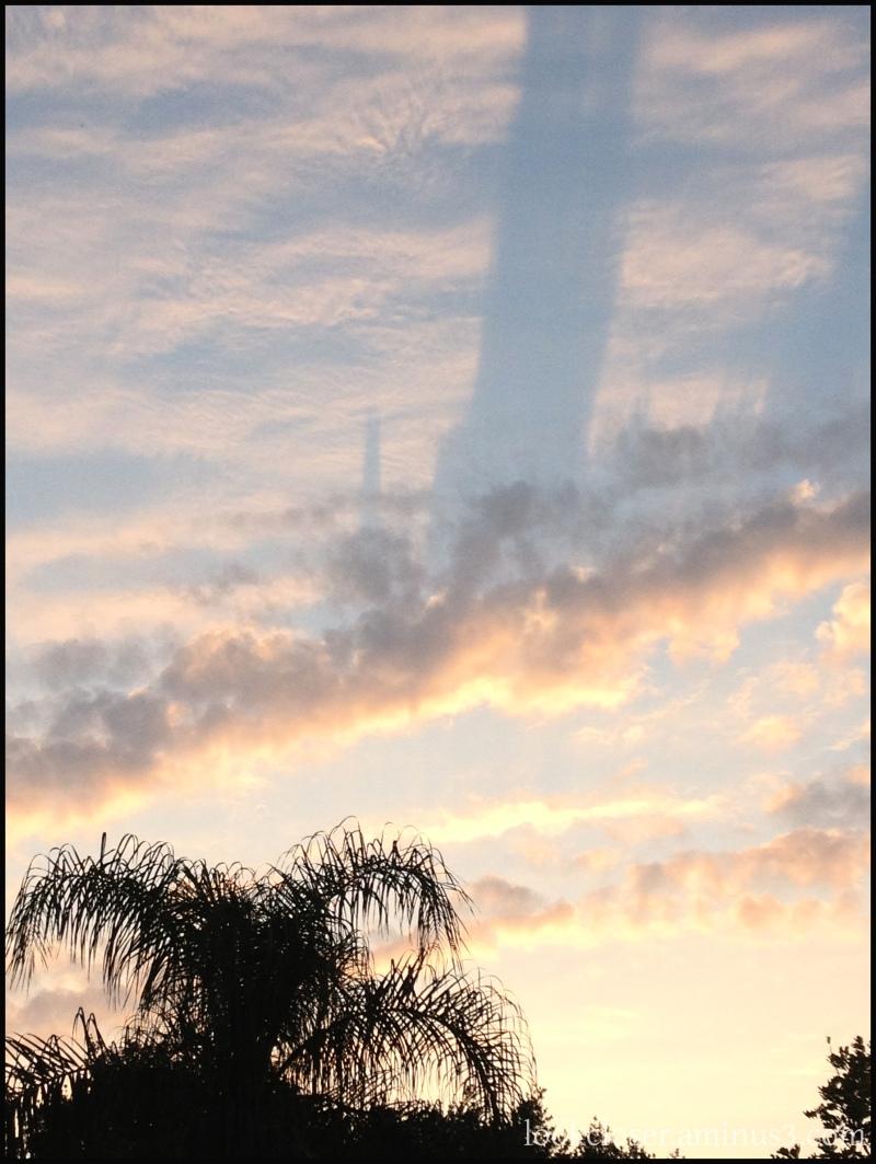 sunset sky april