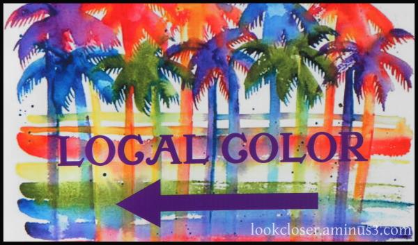local color palms arrow apalachicola sign