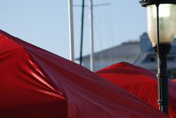 red tent canopy