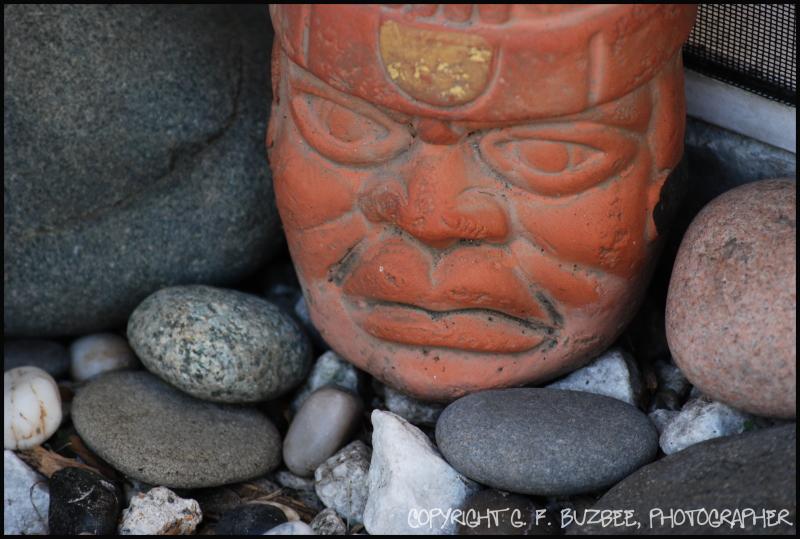 primitive art face attitude home garden