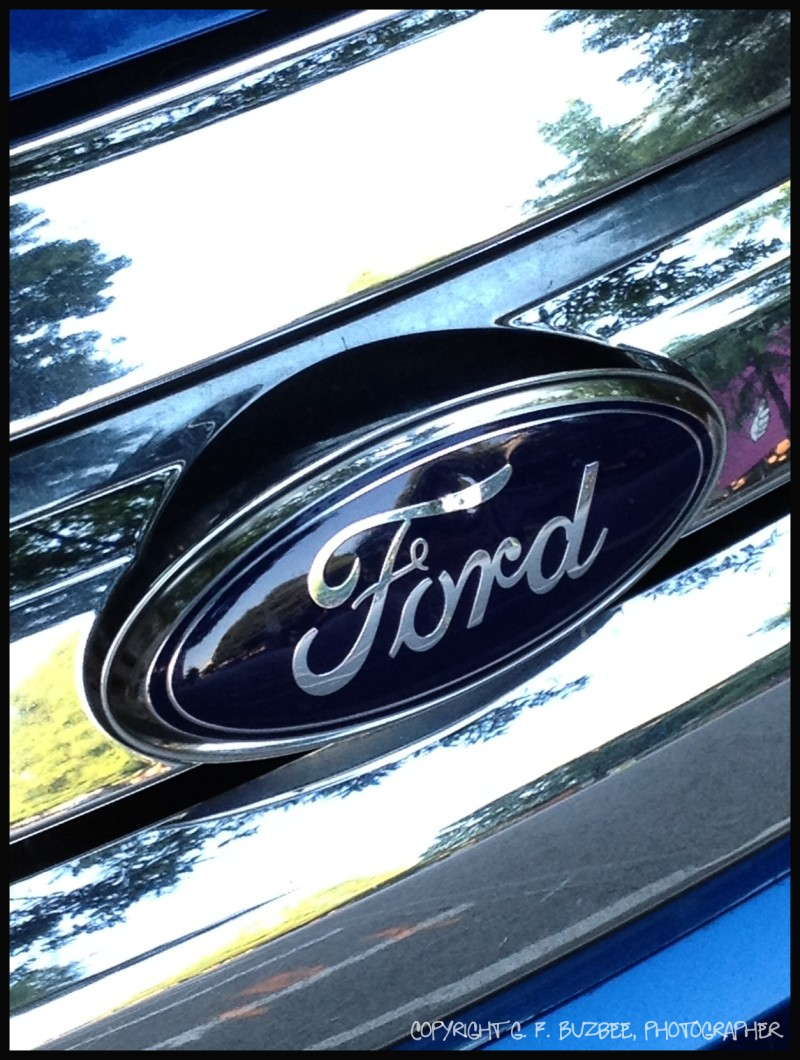 blue ford car