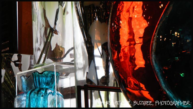 colorful glass red aqua