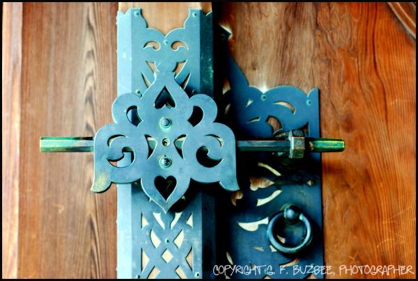 shinto shrine door hardware tokyo japan