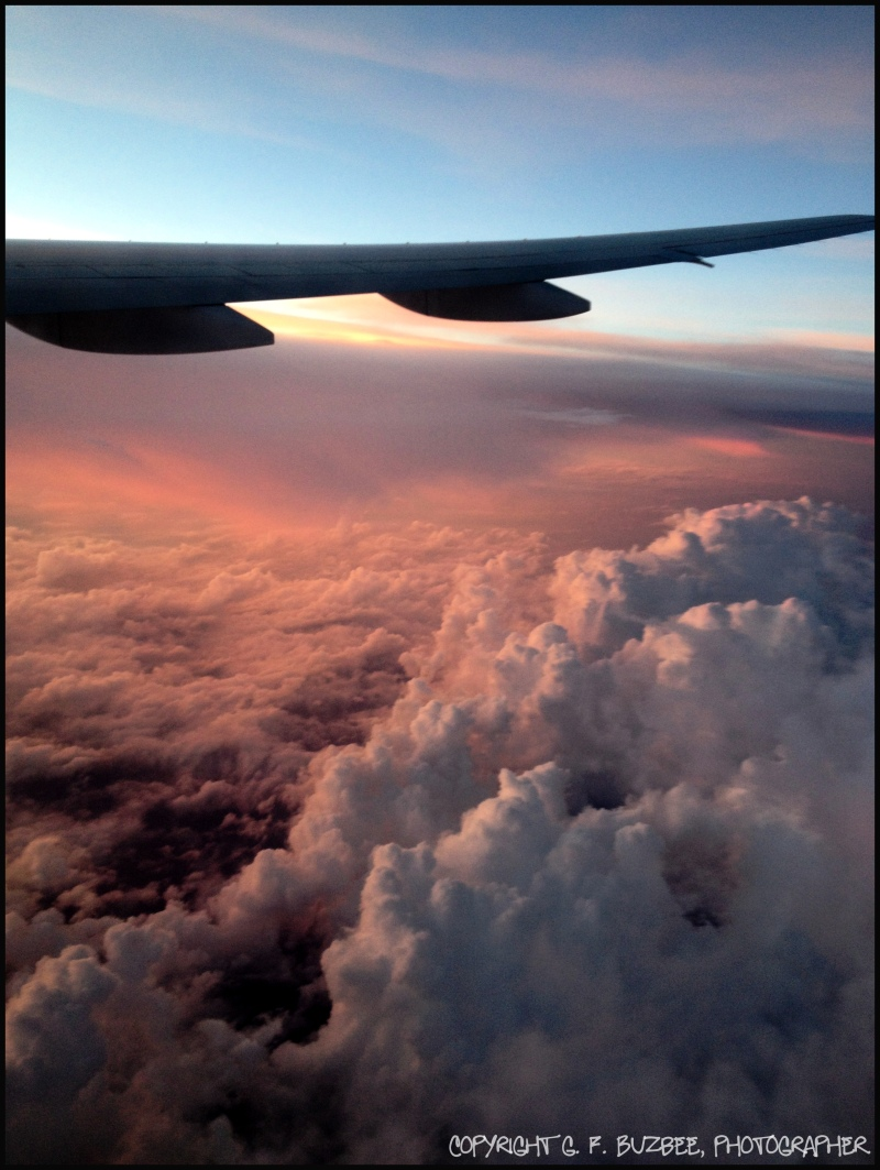 Sky clouds wing flight