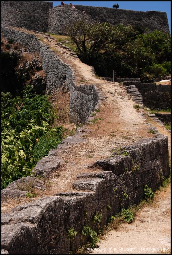 Okinawa castle stone wall