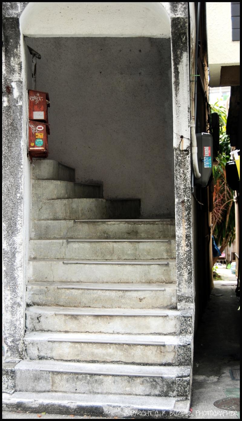 Naha Okinawa steps alley