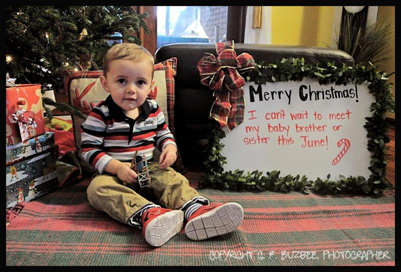 Grandson happy announcement