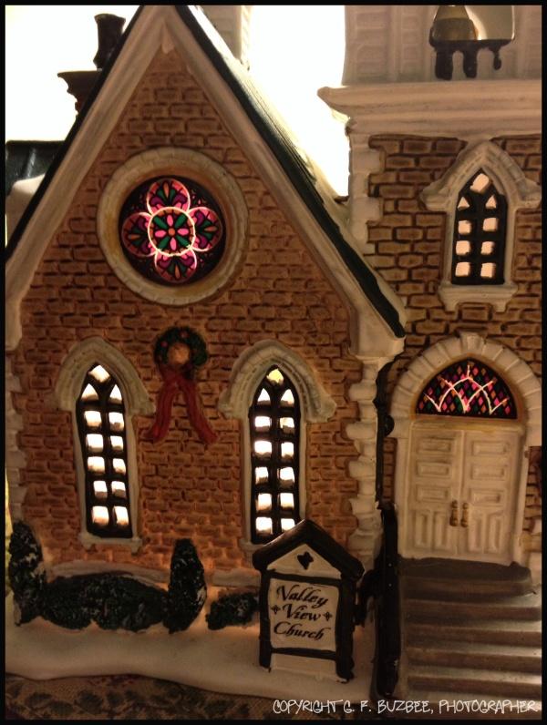 Christmas village church