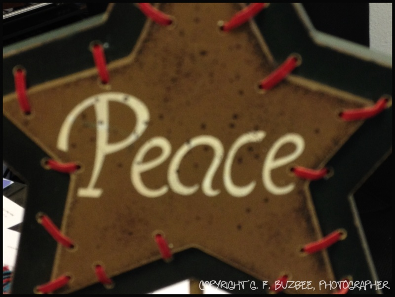 Peace Christmas star