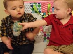 Grandsons Wade Atticus Sharing