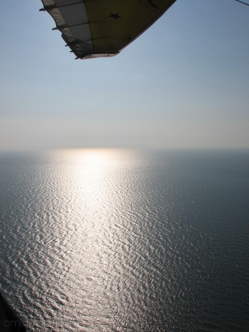 The Irish Sea, as seen from a microlight