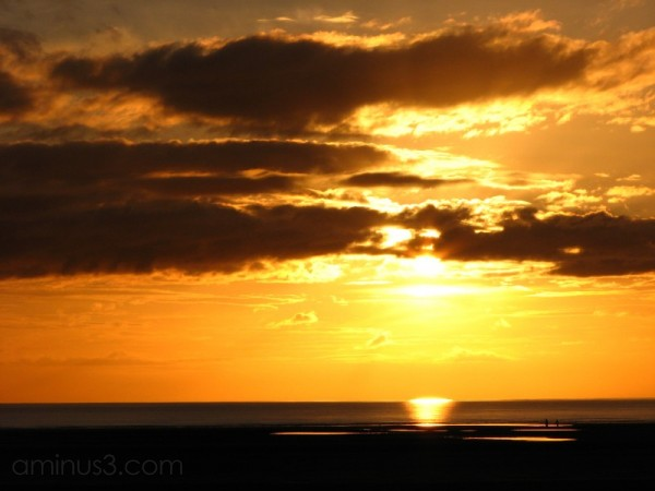 Sunset at Ainsdale Beach
