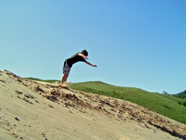 Jumping the Sand Dunes