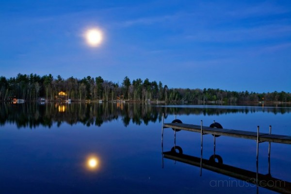 Moon over Legend Lake