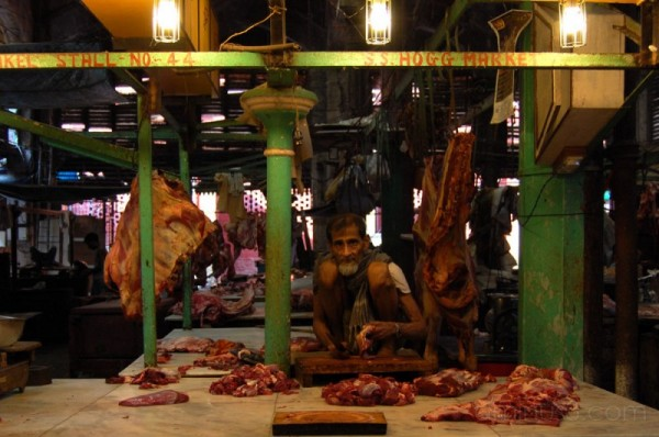 Butcher in New Market, Calcutta #2