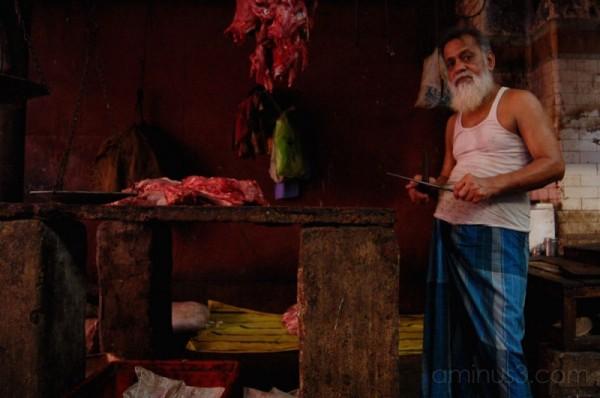 Butcher in New Market, Calcutta #3
