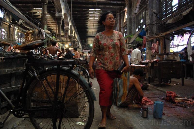 Customer in New Market, Calcutta