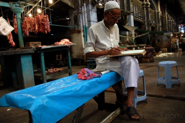 At the meat section in New Market, Calcutta #2