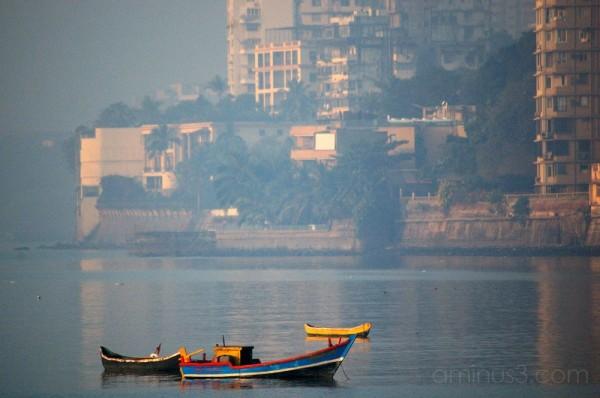 Boat at Chowpatti, Bombay