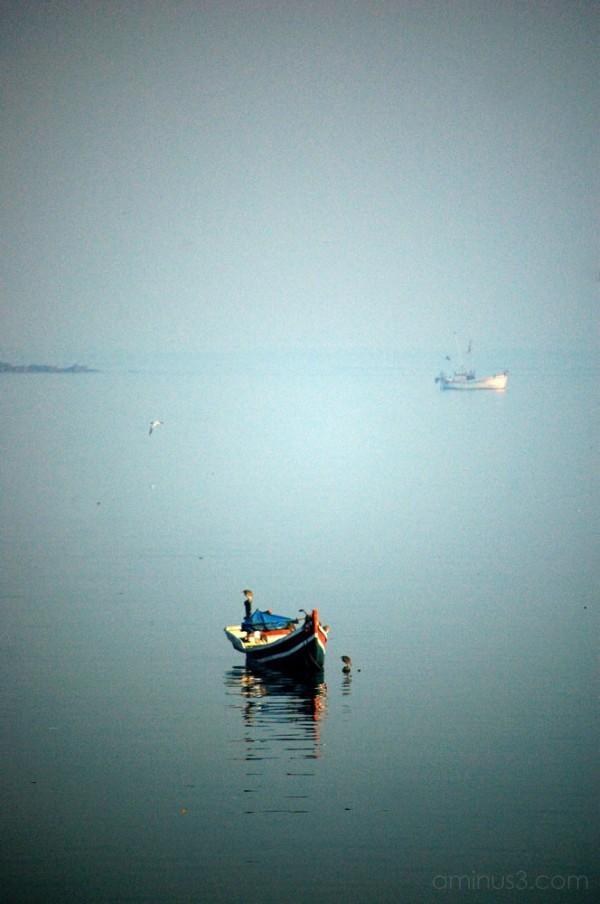 Boat near Haji Ali mosque, Bombay